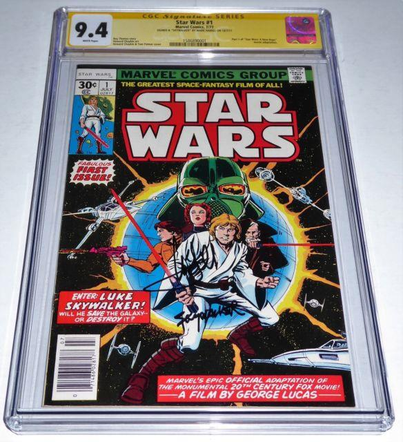 Star Wars #1 Cgc Ss Signature Autograph Remarked Mark Hamill Skywalker Signed