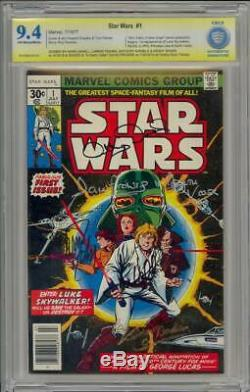 Star Wars 1 Cbcs / Cgc Ss 9.4 1977 Signed 5x Hamill Fisher Daniels Baker Prowse