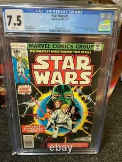 Star Wars #1 Cgc 7.5 White Pages 1977 Marvel Comics Comic Kings