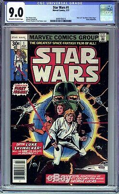 Star Wars #1 Cgc 9.0 Vf/nm (1977 Marvel Comics) First Printing- A New Hope