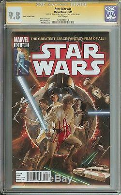 Star Wars #1 Cgc 9.8 501 Ross Variant Cover Signed By Stan Lee 1st Day Release