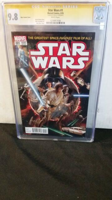 Star Wars #1 Cgc 9.8 Ss Signed Stan Lee Alex Ross Color Variant