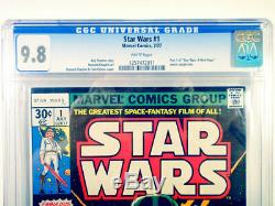 Star Wars #1 Comic Book July 1977 Graded Cgc 9.8 White Pages