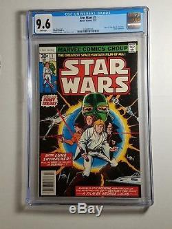 Star Wars #1 Comic, CGC 9.6, Jul 1977 Marvel, 1st Print,'A New Hope' Adaptation