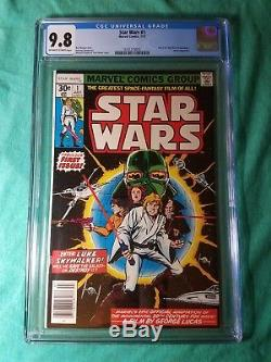 Star Wars #1 Comic, CGC 9.8, Jul 1977, Marvel, 1st Print, A New Hope Adaptation