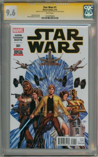 Star Wars #1 First Print Cgc 9.6 Signature Series Signed Stan Lee 2015 Movie