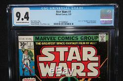 Star Wars #1 Howard Chaykin A New Hope Movie Adaptation CGC Grade 9.4 1977