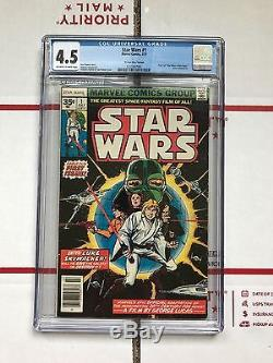 Star Wars #1 (Jul 1977, Marvel) 35 cent price variant! CGC 4.5 READ DESCRIPTION