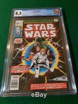 Star Wars #1 (Jul 1977, Marvel) CGC 8.5 VF+ White pages signed by Chaykin