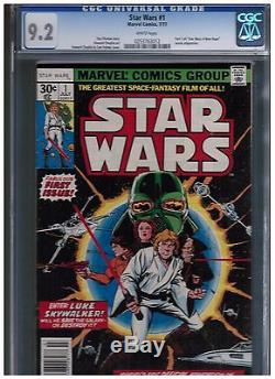 Star Wars #1 (Jul 1977, Marvel) CGC 9.2 BLUE UNIVERSAL WHITE PAGES