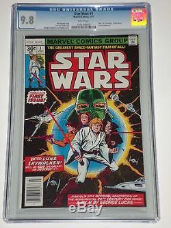 Star Wars 1 (Jul 1977, Marvel) CGC Graded 9.8 Part 1 of'A New Hope' Adaptation