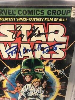 Star Wars #1 (Jul 1977, Marvel) CGC Signed X3 Thomas/ Billy Dee Williams/Chaykin