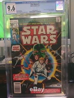 Star Wars #1 July 1977 CGC 9.6 OFF White to WHITE PAGES! NO WHITE IN SPINE