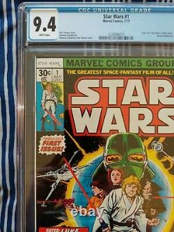 Star Wars #1 (Marvel 1977) CGC 9.4 NM white pages, first print