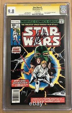 Star Wars #1 Marvel 1977 CGC 9.8 New Hope Stan Lee Auto Signature Series (BB MO)