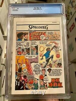 Star Wars 1! Marvel Comics 1977! CGC 7.0! White Pages! Great Book! WOW