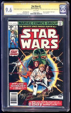 Star Wars #1 SS CGC 9.6 Hamill Fisher Daniels Baker Mayhew & Chaykin WP 1977