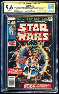 Star Wars #1 SS CGC 9.6 Hamill Fisher Daniels Baker Mayhew & Prowse +2 WP 1977