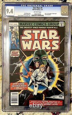 Star Wars #1 Vintage Marvel Comic 7/1977 First Issue CGC 9.4 Off-White Pages