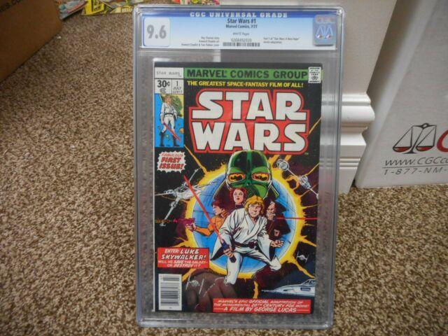 Star Wars 1 Cgc 9.6 Marvel 1977 1st Appearance Luke Skywalker Darth Vader Leia +