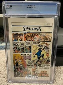 Star Wars #1 cgc Graded 8.5 1977 White Pages