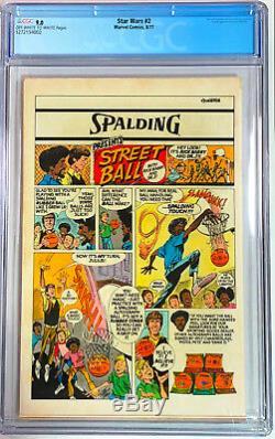 Star Wars # 2 1977 Marvel 35 Cent Price Variant CGC 9.0! Rare Nice 1