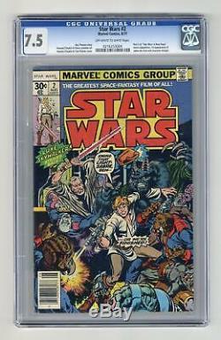 Star Wars #2 1st Printing CGC 7.5 1977 0216253004