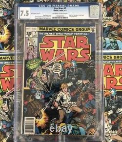 Star Wars #2 35 Cent Price Variant CGC 7.5 1977 Ultra Rare GrailLow CGC Census