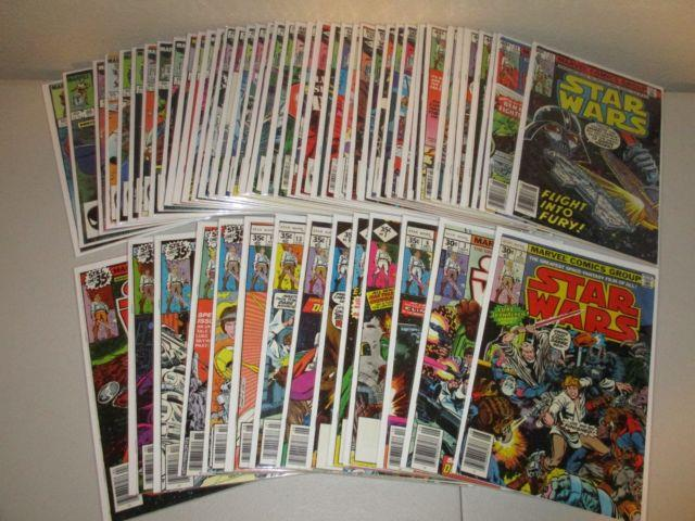 Star Wars #2-89 (not Complete, Lot Of 55) Fn/vf, Marvel 1977 Series