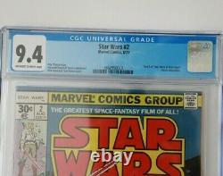 Star Wars #2 Marvel 1977 CGC 9.4 NM Comic