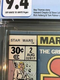 Star Wars #2 Marvel Comics 1977 CGC 9.4, Plus Star Wars 3