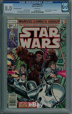 Star Wars #3 CGC 8.0 VF 35 cent price variant. 35 very fine Marvel comics