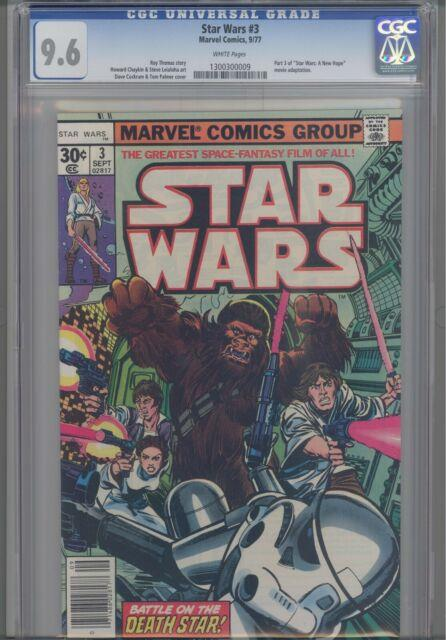 Star Wars #3 Cgc 9.6 1977 Marvel Comic Part 3 Of A New Hope Movie Adaptation