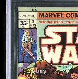 Star Wars #3 CGC 9.6 35 CENT PRICE VARIANT ULTRA RARE! Marvel Comic 1977
