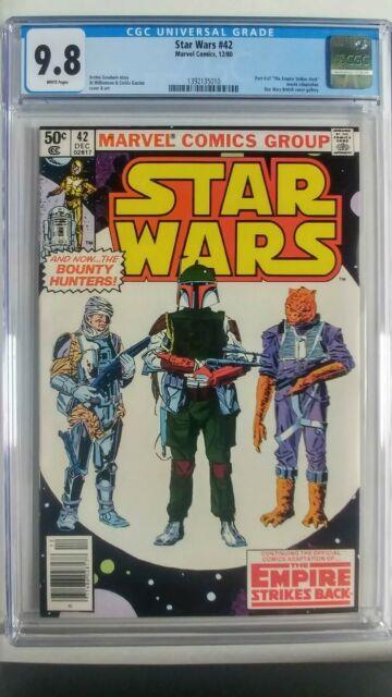 Star Wars #42 (1980 Marvel) Cgc 9.8 1st Boba Fett Newsstand Variant