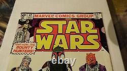Star Wars #42 1st Appearance of Boba Fett Marvel Newsstand Variant Very Fine VF