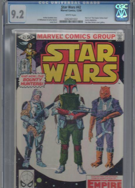 Star Wars #42 Cgc 9.2 Nm- White Pages 1st First Appearance Of Boba Fett