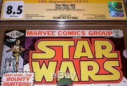 Star Wars #42 CGC SS 8.5 SIGNED Jeremy Bulloch Marvel 1980 1st app Boba Fett