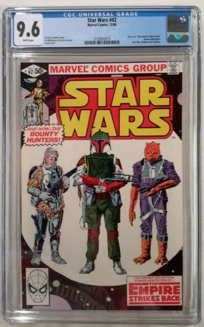 Star Wars #42 Cgc 9.6(dec 1980 Marvel)1st App. Of Boba Fettwhite Pages