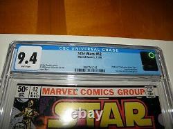 Star Wars #42 Dec 1980 1st App Boba Fett in Comics HOT CGC 9.4 WHITE Blue Label