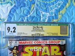 Star Wars #42 Signed by Stan Lee & Jeremy Bulloch CGC 9.2