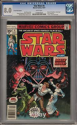Star Wars #4 CGC 8.0 35 Cent Variant (W) Rare Variant Death of Obi-Wan Kenobi