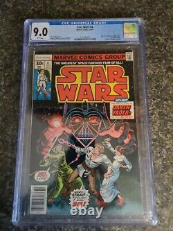 Star Wars #4 Marvel Comics 1977 CGC 9.0 White Pages