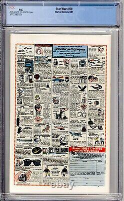 Star Wars 50 CGC Graded 9.6 NM+ Marvel Comics 1981