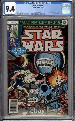 Star Wars 5 CGC Graded 9.4 NM Marvel Comics 1977