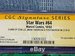 Star Wars #64 1982, Marvel, Signed, Stan Lee, Peter Mayhew, Brent Anderson, CGC