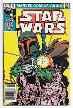 Star Wars 68 Boba Fett 1977 Marvel 1st Print Mandalorian NEWSSTAND CLEAN Copy