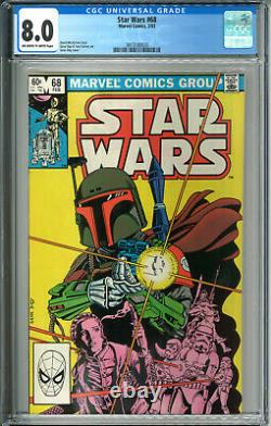 Star Wars #68 CGC 8.0 VF OWW Marvel Comics 2/83 1983 2nd Boba Fett Mandalorian