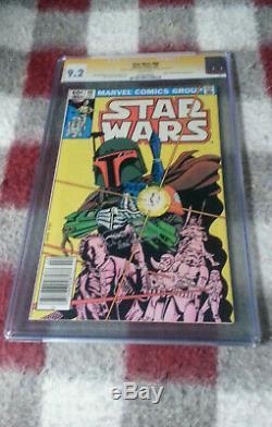 Star Wars #68 CGC 9.2 SS Signed Jeremy Bulloch (Boba Fett Lives!) 1983 Newsstand