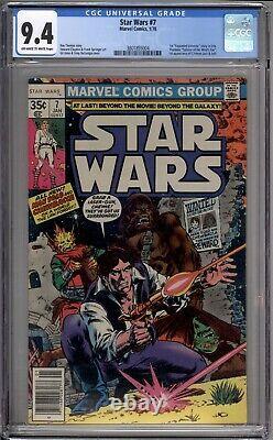 Star Wars 7 CGC Graded 9.4 NM Newsstand Marvel Comics 1977
